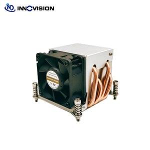 2u lga2011/2066 quadrado servidor dissipador de calor ventilador do pc com quatro tubo aquecimento para intel cpu