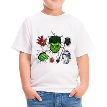 Cool Cartoon Hulk Baby Boys T-shirts Summer Short Sleeve Girls T-shirts Casual Cotton Children Clothes Fashion Kids Tops Tee hogwarts game of thrones star wars jedi mens t shirts summer cotton tee winter is coming stark wolf male casual short sleeve tee