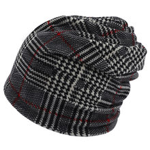 Warm Winter Beanie Hat for Man New Turtleneck Hat Plaid Print Tactical Fleece Watch Cap, Black - One Size Skull Beanies(China)