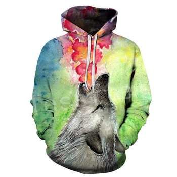 Tessffel Animal art Wolf Cartoon Harajuku Casual Colorful Tracksuit 3DPrint Unisex streetwear zipper/Hoodies/Jacket Men Women s4 1