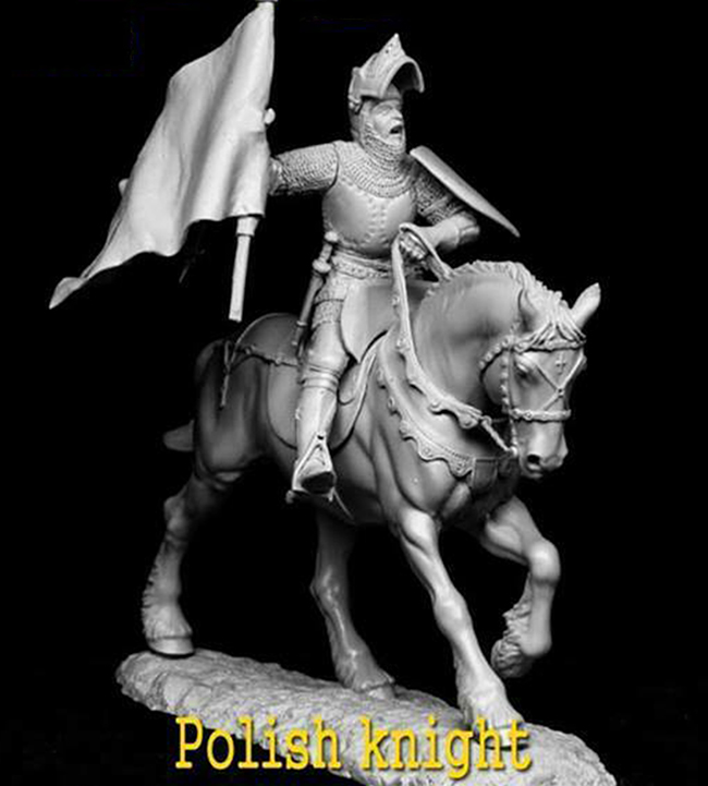 1/32 54mm   Ancient Polish Knight Early 15 Cent 54 MM   Resin Figure Model Kits Miniature Gk Unassembly Unpainted