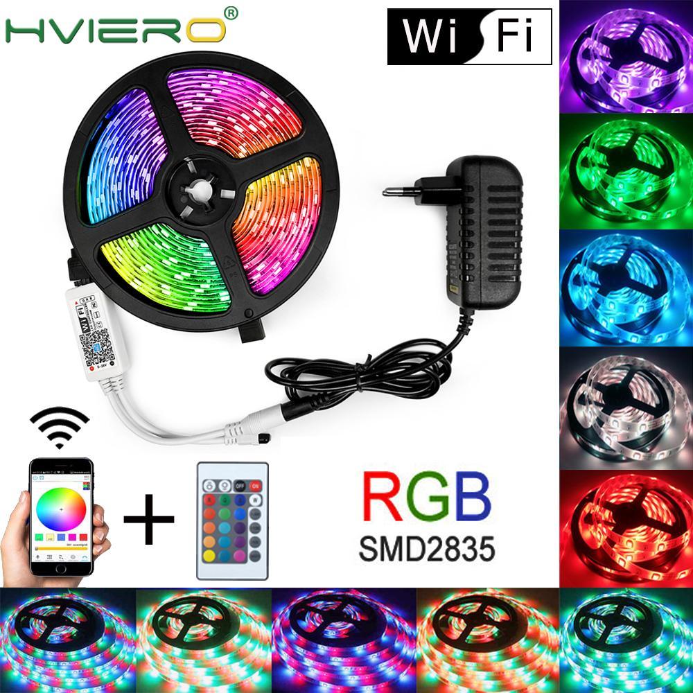 WIFI RGB Waterproof Led Strip Light 5M 10M 15M LED String DC12V Fiexble Light Ribbon Tape LED String Light Tape Holiday Lighting