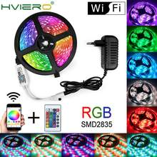 Wifi Rgb Waterdichte Led Strip Licht 5M 10M 15M Led String DC12V Fiexble Licht Lint Tape Led string Licht Tape Vakantie Verlichting(China)