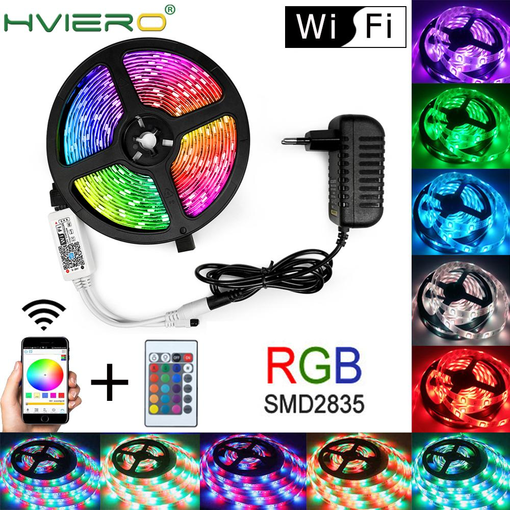 WIFI Waterproof RGB Led Strip Light 5M 10M 15M LED String DC12V Fiexble Light Ribbon Tape LED String Light Tape Holiday Lighting