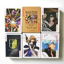 27 стилей ONE PIECE Dragon Ball Z Наруто Аниме покерные игрушки хобби Хобби Коллекционные игрушки игровая коллекция карт