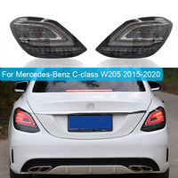 Car Styling Tail Lamp case For Mercedes Benz C class W205 taillights Tail Lights C180 C200 C260 C63 LED Turn Signal Brake Lamp