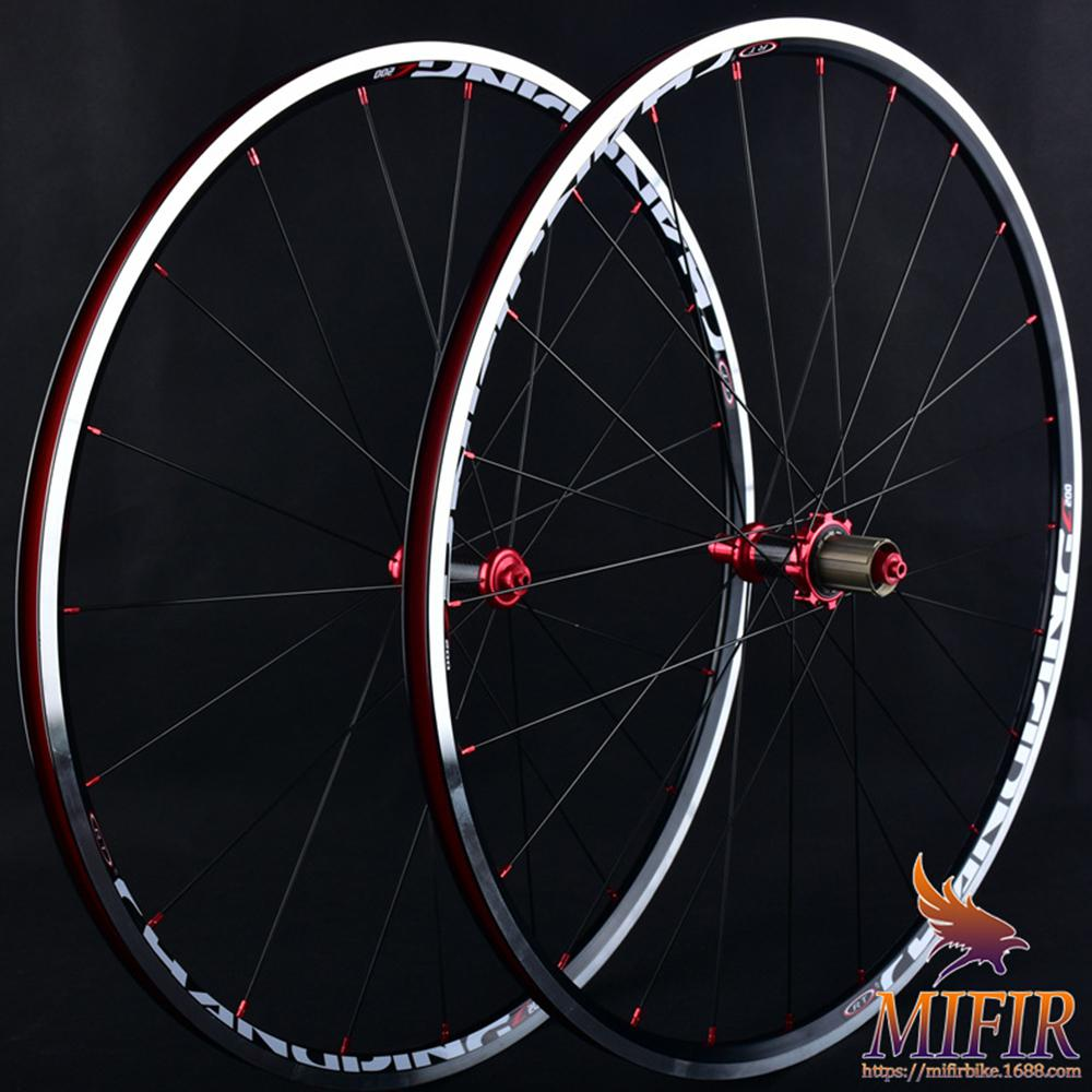 Bearing 700C front 2 Rear <font><b>5</b></font> Ultra Light 120 Ring Aluminum Alloy Carbon Fiber Road Bike Bicycle <font><b>Wheel</b></font> Set With Tire Pad + <font><b>Spokes</b></font> image