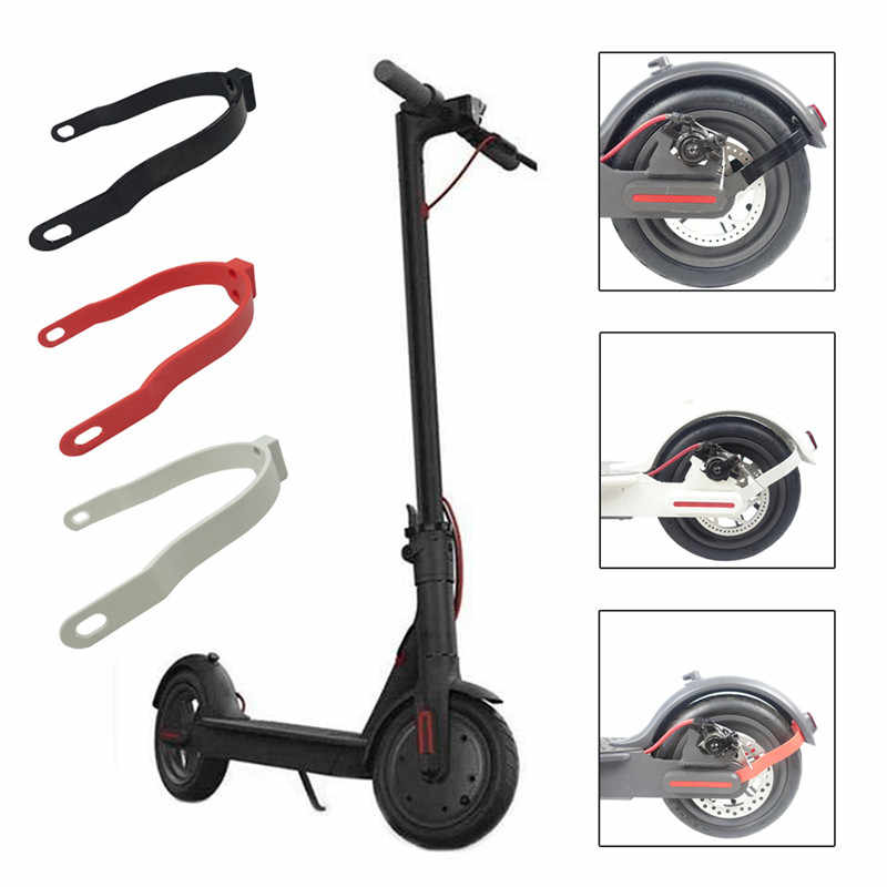 6 Pieces Scooter Replacement Part set 2 Pieces 8.5 Inch Thickened Inner Tubes with Rear Fender Mudguard Bracket Support and 3 Pcs Rubber Vibration Dampers for Xiaomi M365//M365 Pro Scooter