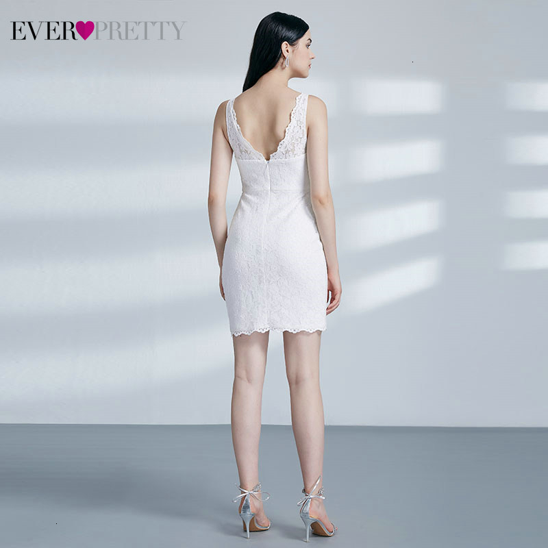 Image 3 - Sexy Short Homecoming Dresses Ever Pretty Double V Neck Sleeveless Above Knee Lace Little Mermaid Dresses Vestido De Formatura-in Homecoming Dresses from Weddings & Events