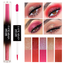 New Double Color Liquid Eye Shadow 2 In 1 Makeup Kit Glitter Eyeshadow Waterproof Long Lasting Shimmer Pigment Eye Liner все цены
