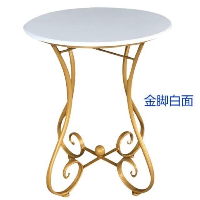 European-style Tieyi Small Round Table Sofa Side Several Modern Leisure Simple Balcony Small Tea Table Coffee Tea Table Mini-min