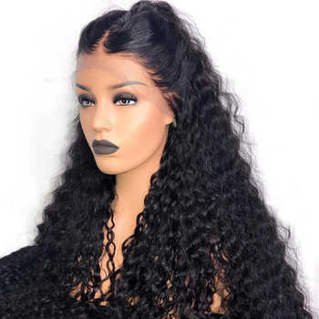 180% Density Curly 360 Human Hair Wig Peruvian Remy Hair Natural Color 360 Lace Frontal Wig With Bleached Knots Free Part - DISCOUNT ITEM  45% OFF All Category