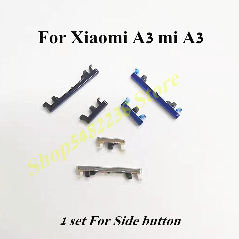 100% Original Power side button For Xiaomi A3 mi A3 Power Volume ON OFF side Keys Case Cover Replacement parts