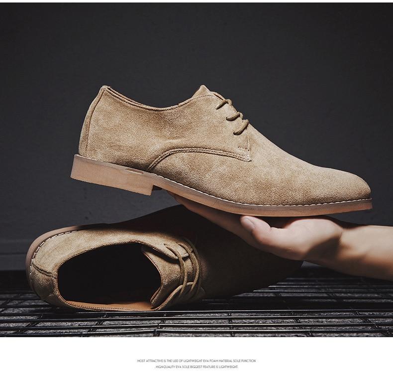 Hcda77c8ff7b64aa28ffd7cafd4c7e1363 Merkmak Fashion England Trend Casual Shoes Men Flock Oxford Wedding Leather Dress Men Flats Waterproof Men Shoes Plus Siz