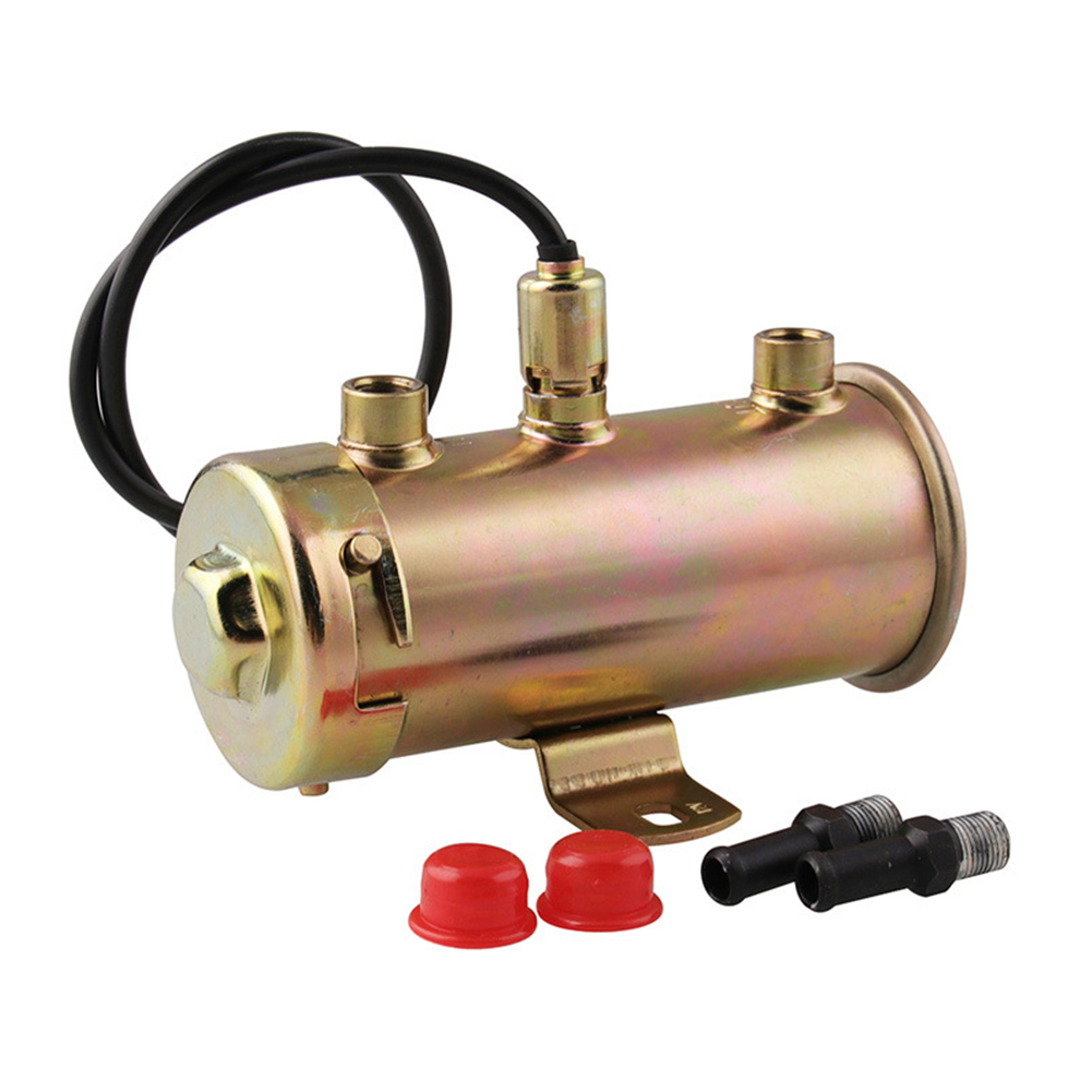 12V 2 Adapters Durable Auto Car Replacement Parts Universal Easy Install Copper Low Pressure Electric Fuel Pump Sturdy High Flow|  - title=