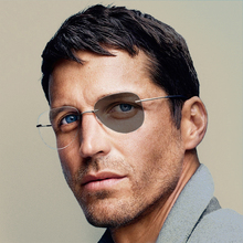Unisex Pilot Meekleurende Bijziendheid Bril Vrouwen Mannen Ronde Randloze Titanium Bijziend Brillen Rijden Zonnebril N5