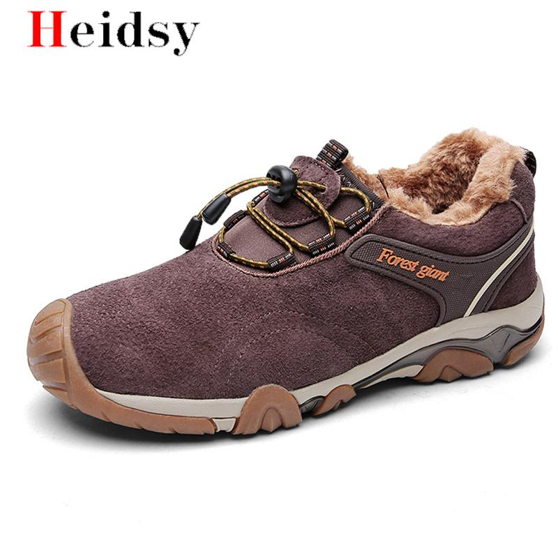 New Men Boots Winter With Plush Warm Snow Boots Non-slip Casual Men Winter Boots Work Shoes Men Footwear Fashion Ankle Boots