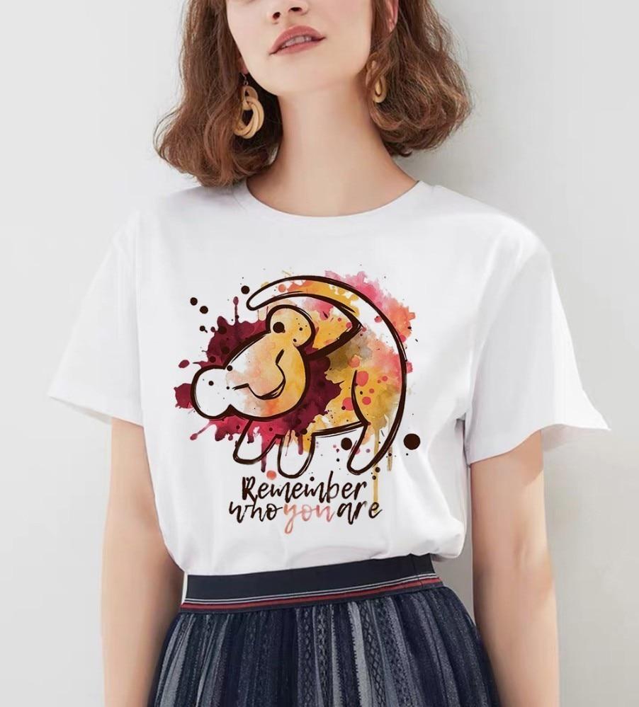 Hakuna Matata camisa mujer Harajuku Ullzang Vintage Kawaii camiseta Homme verano moda Top femenina