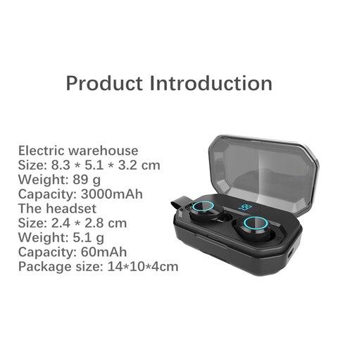 Bluetooth 5.0 Headset TWS Wireless Earphones Twins Earbuds 5D Stereo Headphones Multan