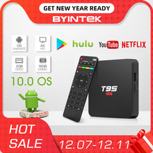 BYINTEK TV Box Android 10.0 OS,2G+16G 2.4G WIFI Chipset3229,Media Player Netflix Hulu,Media player 4K  Youtube