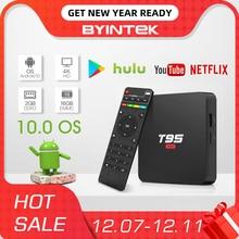 Byintek Tv Box Android 10.0 Os, 2G + 16G 2.4G Wifi Chipset3229, media Player Netflix Hulu,Media Player 4K Youtube