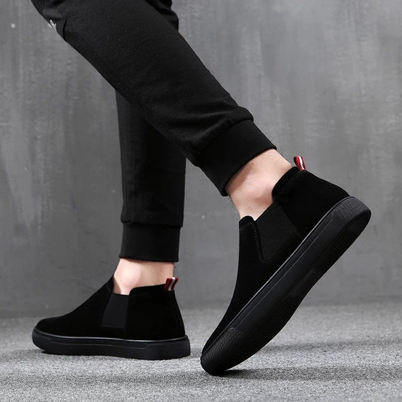 Spring Summer Men Shoes Suede Leather Casual Shoes Men Sneakers Slip on Men Loafers High Quality