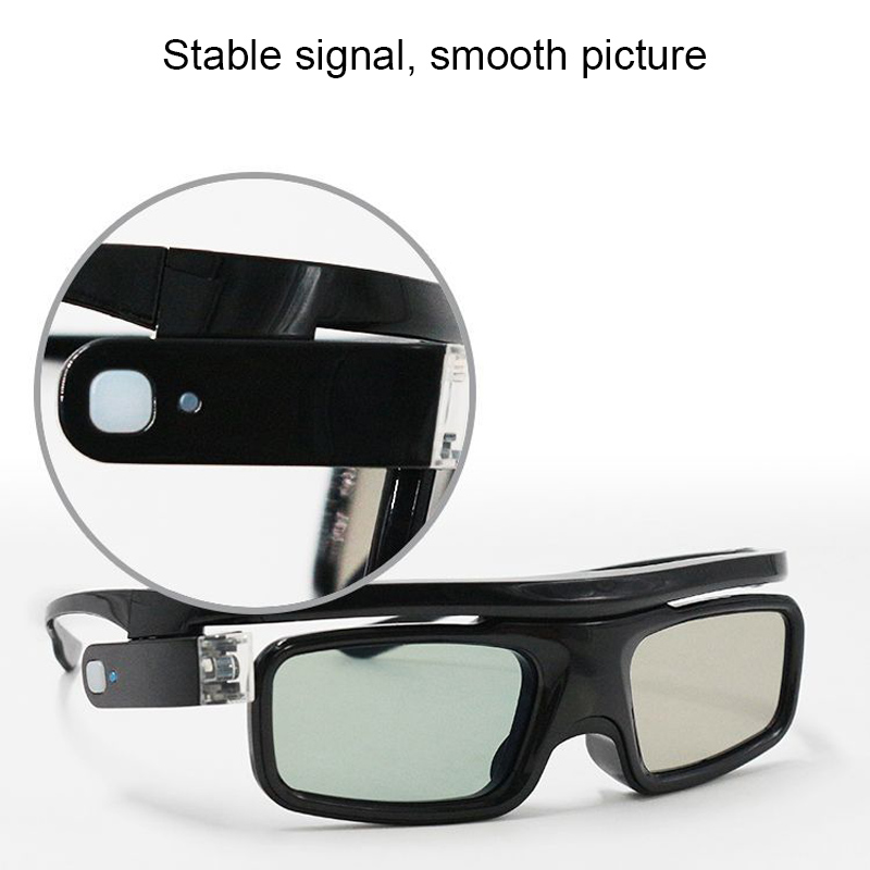 Lightweight Active Shutter Rechargeable 3D Glasses Goggles for DLP LINK Projector @M23
