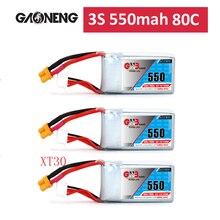 Gaoneng GNB 11.1V 3S 550mAh 850mah 80/160C Lipo Battery Rechargeable XT30 Plug Connector For