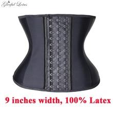Corset amincissant en Latex pour femmes, entraînement de taille, pour le torse, modelage du ventre, ceinture amincissante, cintrée de taille, 9 os en acier sculptant le corps