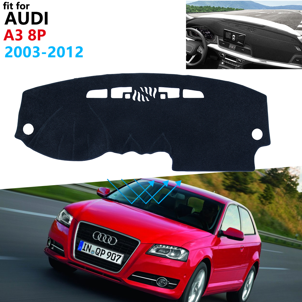 Dashboard Cover Protective Pad for <font><b>Audi</b></font> <font><b>A3</b></font> 8P 2003~2012 Car <font><b>Accessories</b></font> Dash Board Sunshade Anti-UV Carpet S-line 2004 <font><b>2006</b></font> 2011 image