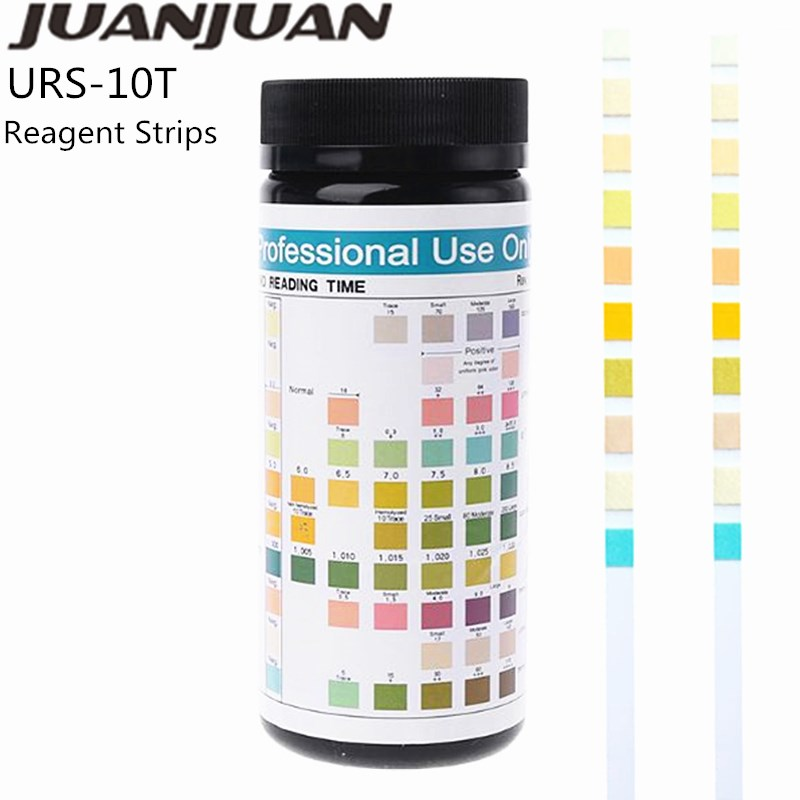 100Pcs URS10T Urinary Ketone Paper Reagent Strip For Urinalysis Urine Test Strip Anti-VC Interference Body Fat Analysis Paper 40