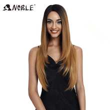Noble Synthetic Lace Wigs For Black Women 28Inch Straight Hair Ombre L