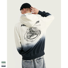Cooo Coll 2019 Men Tie-dye Winter Hoodies Oversized Mens Loose Fit Streetwear Cotton kanye west Casual Tops