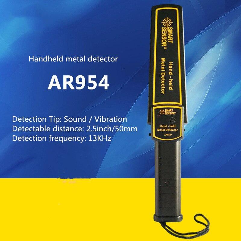 AR954 Handheld Metal Detector Metal Detection Probe Device Security Instrument High Sensitivity Scanner