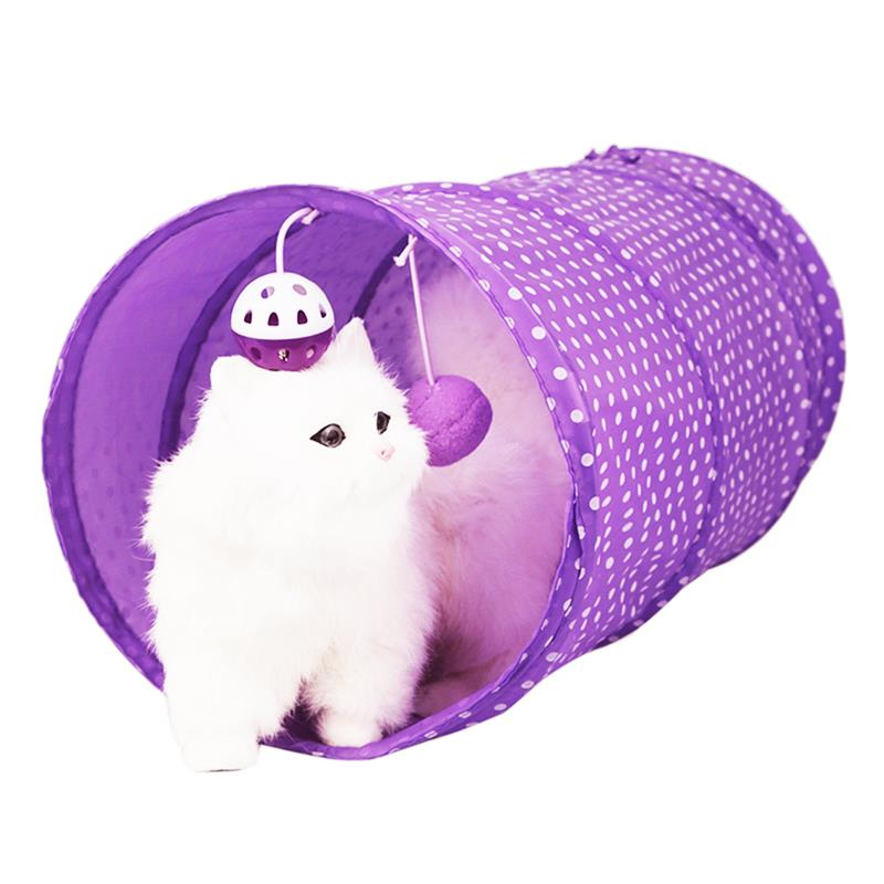 Funny Pet Tunnel Cat Play Rainbown Tunnel Brown Foldable Cat Tunnel Kitten Toy Bulk Toys Rabbit Tunnel Cat Cave Dropshipping