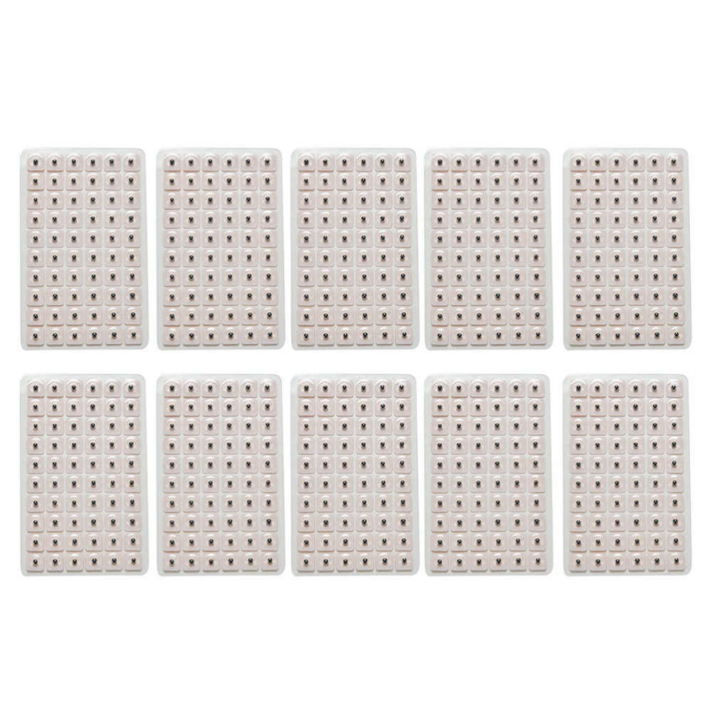 600 Buah/Banyak Akupunktur Jarum Telinga Vaccaria Biji Telinga Pijat Relaksasi Telinga Stiker Auricular-Paster Tekan Biji Grosir