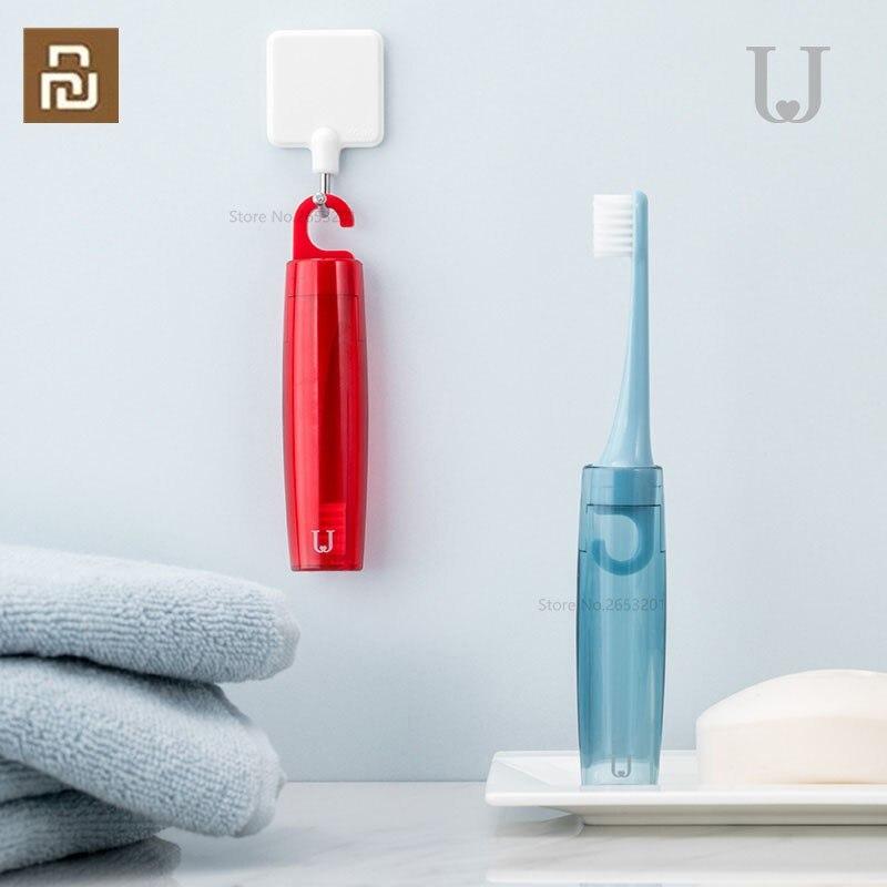 Xiaomi Jordan & Judy doux fourrure pliante brosse à dents Suspension voyage brosse à dents Portable respirant Mini brosse à dents boîte de rangement