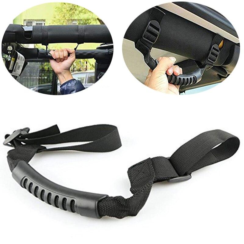 Jeep Wrangler YJ TJ JK JL JKU Grip Handle Bar Roll Grips Holder Car Grab Pulling Tab Safety Handrail Auto Interior Accessories