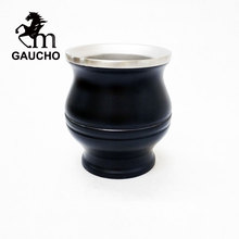 1 PC/Lot Gaucho Yerba Mate Gourds Stainless Steel Calabash Double Wall Heat Insulated Easy Cleaning Hot Sale MT018 180