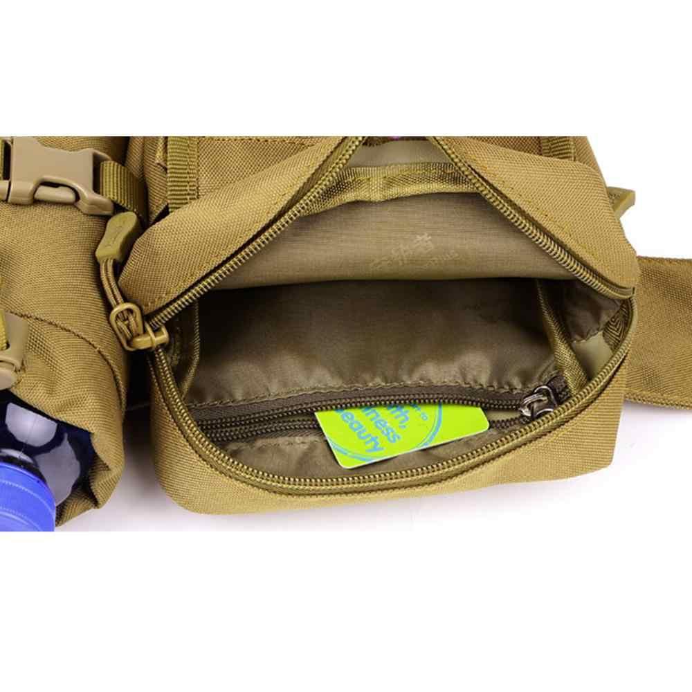 กีฬากระเป๋าผู้ชายกันน้ำ 1000D ไนลอนเดินทางขวดน้ำยุทธวิธี Fanny Pack เอวกระเป๋ากระเป๋าเข็มขัดกีฬาใหม่ล่าสัตว์ Hip แพ็ค