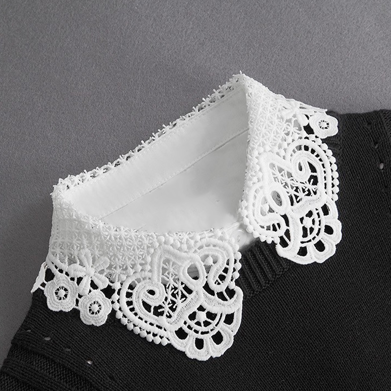 Women Fake Collar Half Shirt Ladies Shirt Fake False Collar For Women Black Woman Detachable Collar Lace Lapel Faux Col Tie