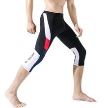 Mens Compression Pants 3/4 Running Tights Men