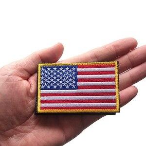 1 шт. американский флаг США Вышивка Липучка нарукавная повязка тканевая наклейка украшение для рюкзака Наклейка Флаг значок нарукавник