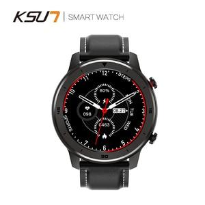 Image 4 - KSR914 חכם שעון גשש כושר גברים נשים Smartwatch לביש התקני חכם להקת קצב לב לפקח ECG זיהוי חכם בראק