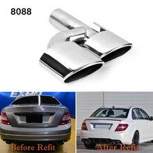 2 шт./компл. Лидер продаж! Для Mercedes Benz AMG C63 C65 W204 глушитель наконечник трубы из нержавеющей стали