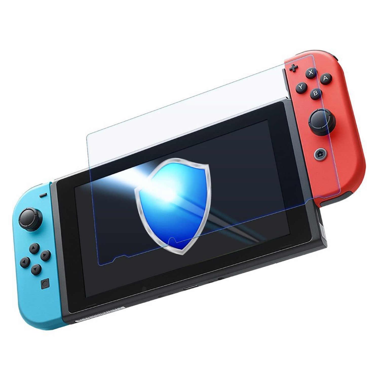 Bevigac 2 uds 0,3mm Delgado Anti-rasguño de alta definición de vidrio templado Protector de pantalla Film cubierta para Nintendo Nintend Switch