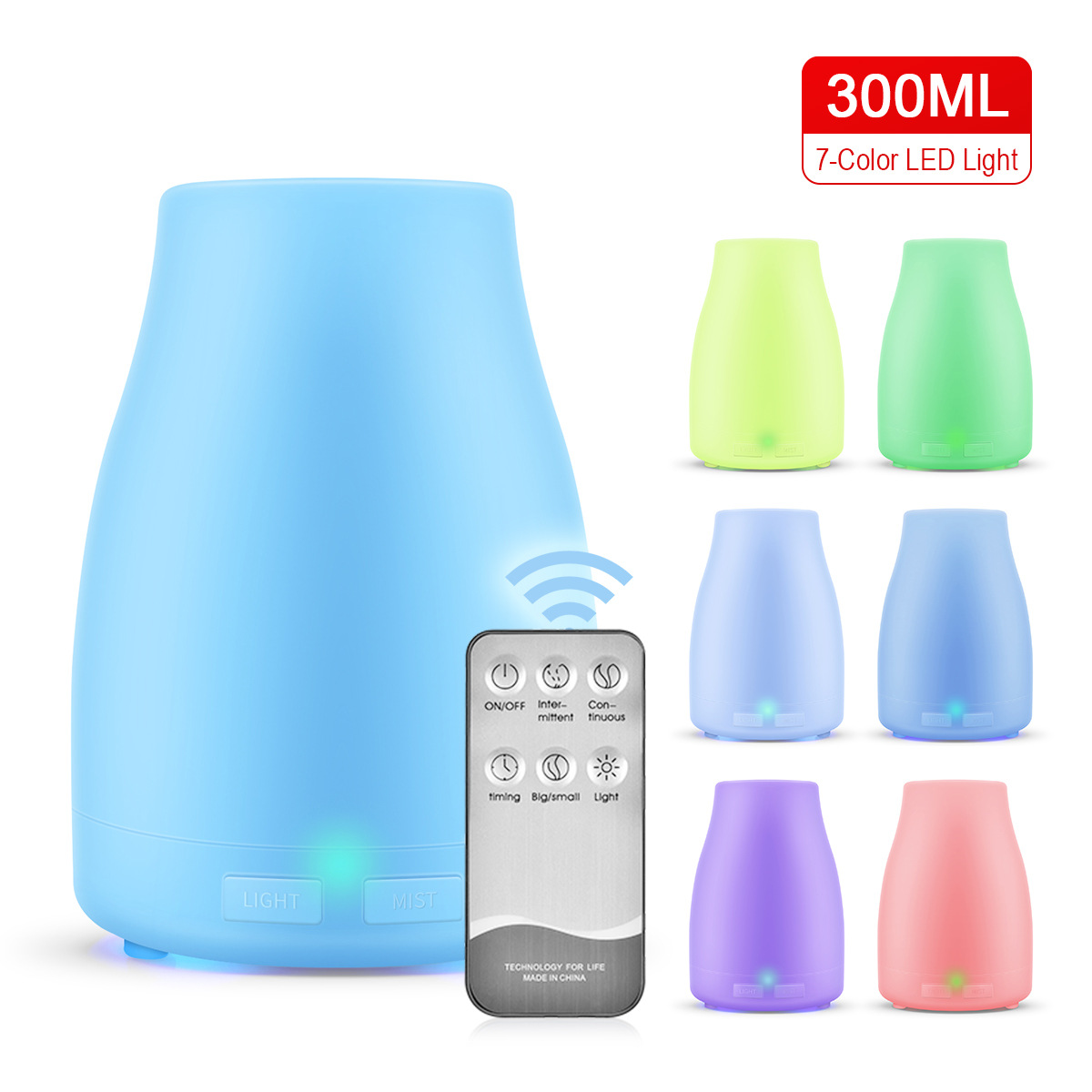 New Style 300ml Sake Bottle Remote Control Humidifier Household Environmentally Friendly Air Spray Mini Ultrasonic Aromatherapy|Humidifiers| |  - title=