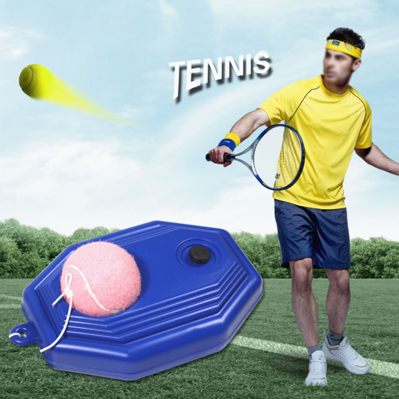 Self-Duty Rebound Tennis Partner Sparring Device Tennis Balls Heavy Duty Training Aids Tool With Elastic Rope Ball Practice
