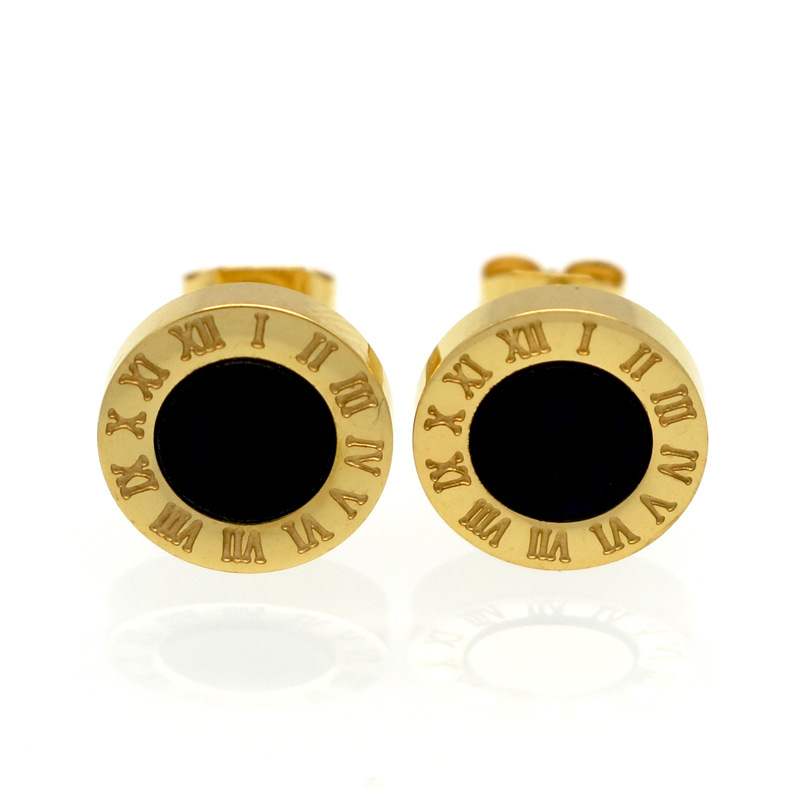 New Gold/Rose/Silver Color Stud Earrings Fashion Famous Brand Jewelry Wedding Party Earrings For Women Lady Men Earrings Gift