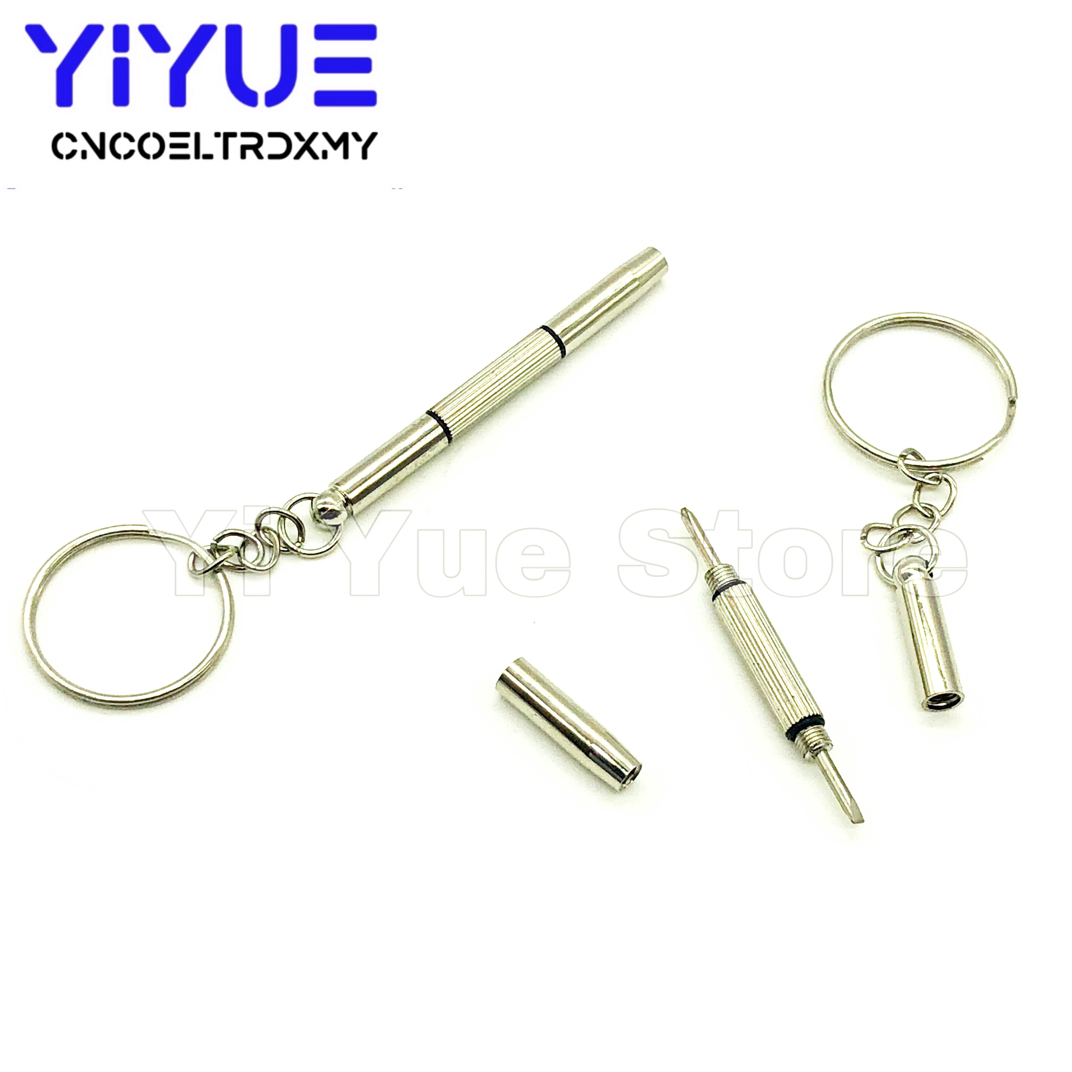 Portable 3 In 1 Keychain Screwdriver Eyeglass Sunglasses Watch Repair Kit Tool
